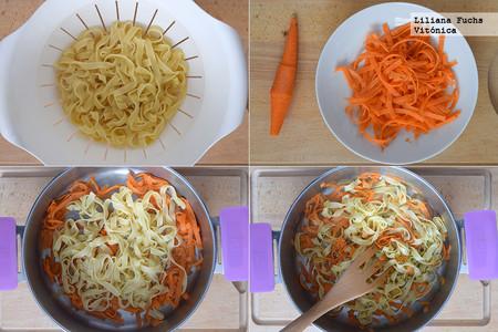 Tallarines de Zanahoria. Pasos